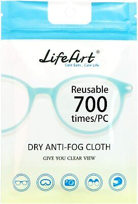 LIfe Art Anti-Fog Wipe, Cleaning Cloths For Eyeglasses, Tablets, Screens, Lens. • 6.99£