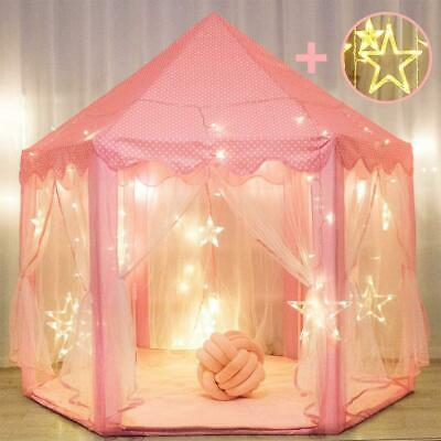 Princess Tent For Girls With Large Star Lights, Kids Play Tents Toys For Fairy • 34.21£