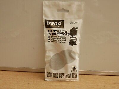 Pair Of Trend Air Stealth Safety Respirator Mask  P3 Filters  Stealth/1 • 9.85£
