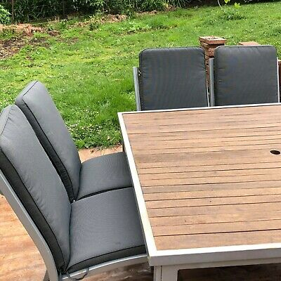 AU300 • Buy Square Timber Outdoor Furniture Setting With 8chairs And Cushions