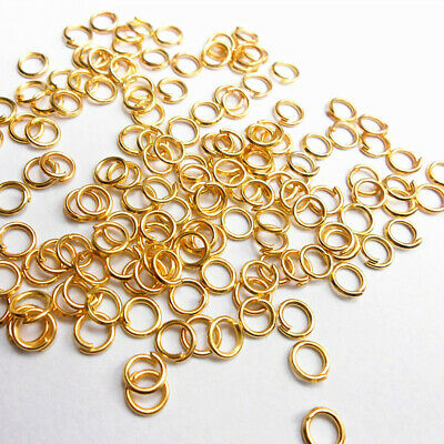 £0.99 • Buy Wholesale 18K Gold Plated Jump Rings Fashion Jewelry DIY Making Findings