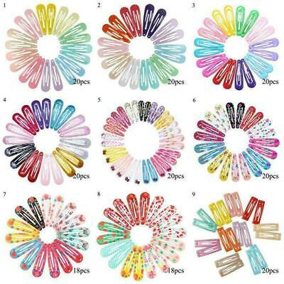 $ CDN3.70 • Buy 18-30x Snap Hair Clips Metal Hair Clip Barrettes For Girls Kids Hair Accessories