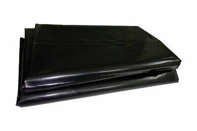 Black Polythene Sheeting Plastic Garden Plant Ground Cover 1200g 4m Wide 7 Sizes • 17.65£