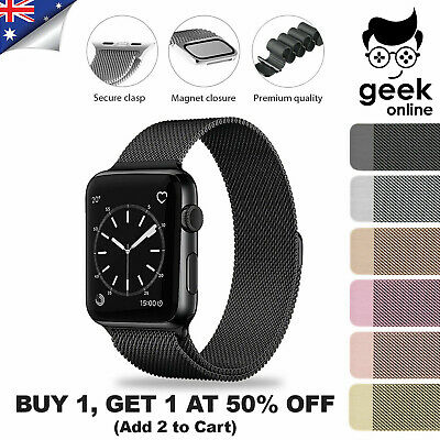 AU8.99 • Buy Apple Watch Band Series 5 4 6 3 2 1 SE Magnetic Stainless Steel IWatch Strap