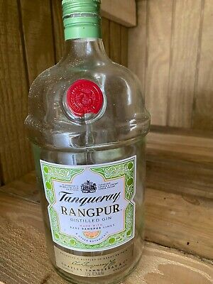 1 Emtpy Tanqueray Rangpur Distilled Gin Bottl 1.75l W/cap London England • 10.82£