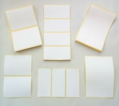 Plain White Sticky Self Adhesive Stickers Address Printer Labels. Multiple Sizes • 1.99£