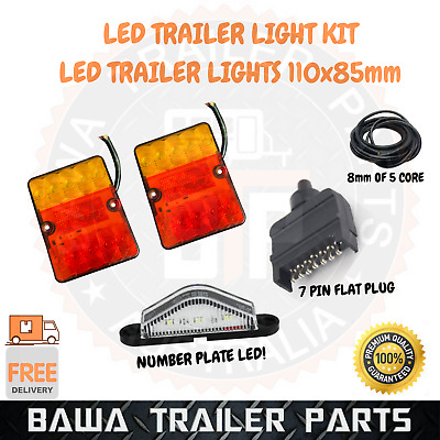 AU40 • Buy Led 11050 Trailer Light Kit With 7 Pin Flat Plug !!! Trailer Parts !