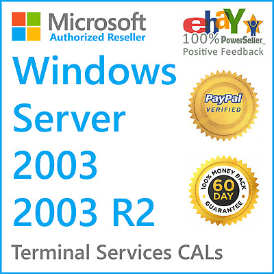 $ CDN174.12 • Buy Windows Server 2003 / 2003 R2 Remote Desktop | Terminal Services CAL License Key