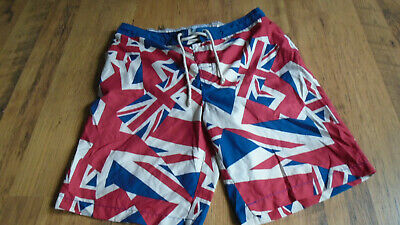 Easy Swim Shorts Waist Sz XL Red White & Blue Union Jack Good Condition • 7.99£