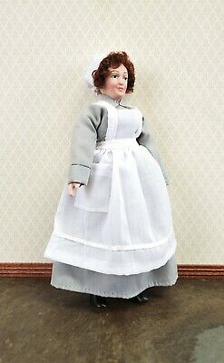 $ CDN18.50 • Buy Dollhouse Miniature Maid Cook Housekeeper Doll Porcelain Poseable 1:12 Scale