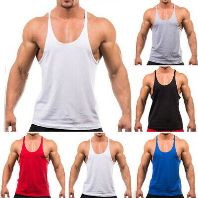 AU12.83 • Buy Mens Sports Bodybuilding Vest Gym Singlet Y Back Muscle Tank Top Workout Shirts