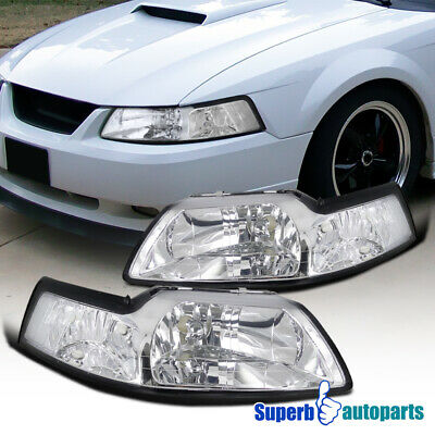 $58.88 • Buy For 1999-2004 Ford Mustang Headlights Head Lamps Pair Left+Right