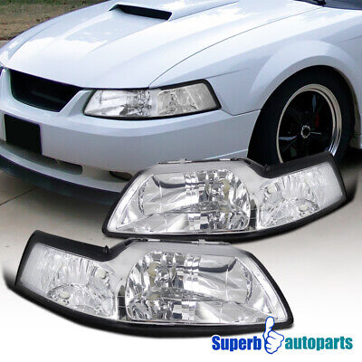 $61.98 • Buy For 1999-2004 Ford Mustang Headlights Head Lamps Pair Left+Right