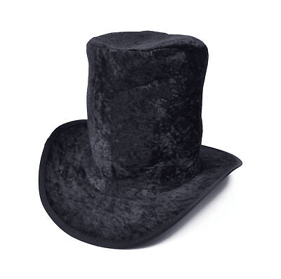 £2.99 • Buy Black Velvet Top Hat Willy Wonka Mad Hatter Book Day Fancy Dress Accessory