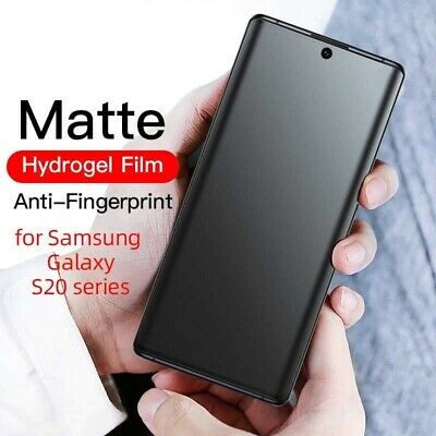 $ CDN6.07 • Buy For Samsung Galaxy S20 Ultra S20 Plus Note 20 S9 Matte Hydrogel Screen Protector