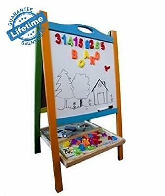 Double Sided Magnetic Whiteboard Chalkboard Painting Easel For Children And • 58.16£