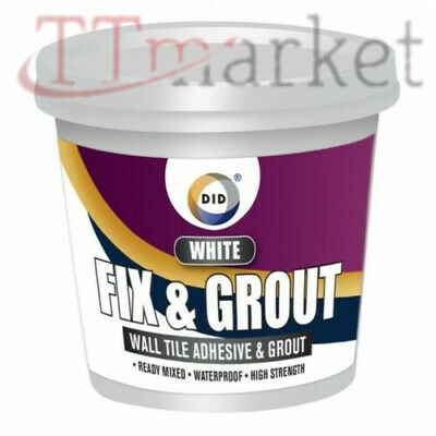 Fix N Grout Tile Adhesive Internal Use For Showers And Wet Bucket Acrylic 500G • 4.99£