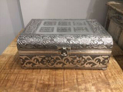 £19.99 • Buy Silver Effect Decorative Jewellery Chest