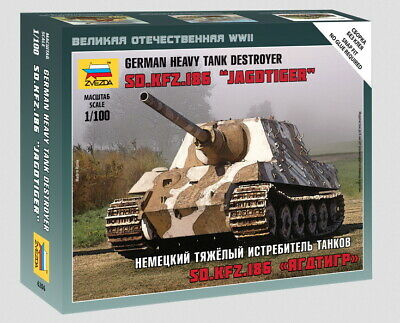 AU10 • Buy Zvezda Models 1/100 (Snap-Fit) German Heavy Tank Destroyer Sd.Kfz.186 Jagdtiger