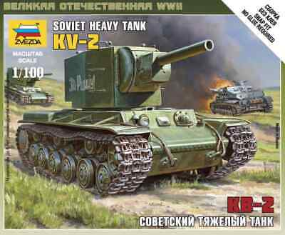 AU10 • Buy Zvezda Models 1/100 (Snap-Fit) Soviet Heavy Tank KV-2