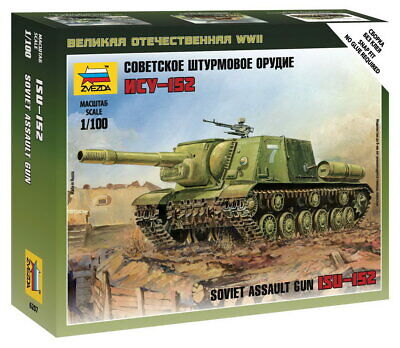 AU10 • Buy Zvezda Models 1/100 (Snap-Fit) Soviet Assault Gun ISU-152