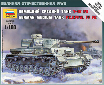 AU8.50 • Buy Zvezda Models 1/100 (Snap-Fit) PzKpfw. IV Ausf.F2