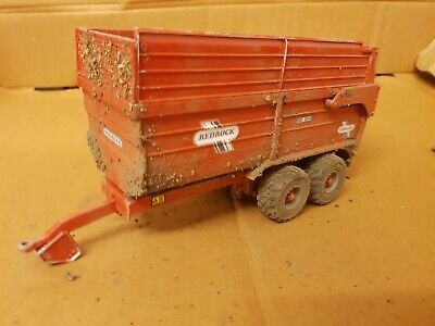 Rare Britains Conversion Weathered  Redrock Silage Trailer  For Tractor Siku  • 40£