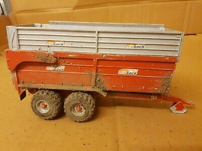 Rare Britains Conversion Weathered  Newrock Silage Trailer  For Tractor Siku  • 40£