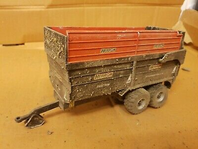 Rare Britains Conversion  Weathered  Herron H2 Silage Trailer  For Tractor Siku  • 40£