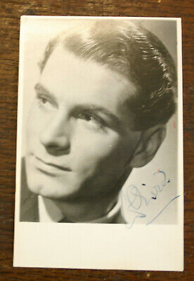 LAURENCE OLIVIER Signed  B/W Photo • 40£