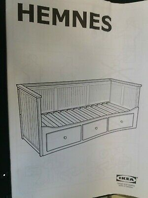 USED IKEA-Day-bed-frame-with-3-drawers-white -Some Wear And Tear And Needs Fixes • 114.99£