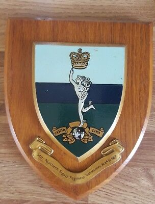 Vintage ROYAL SIGNALS REGIMENT Plaque • 25£