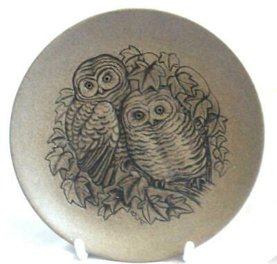 Poole Pottery British Bird Series Display Plate Depicting Two Little Owls • 4.99£