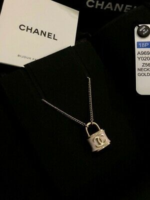 £991.19 • Buy Authentic Chanel Padlock Small  Necklace