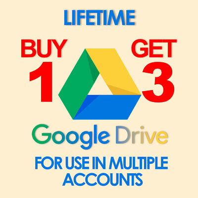 AU2.22 • Buy UNLIMITED GOOGLE DRIVE FOR YOUR Account EXISTING Drive Very Fast Get 3 And Pay 1