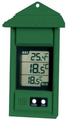 Digital Max/min Thermometer For Conservatories, Greenhouses & Grow Rooms Green • 13.34£