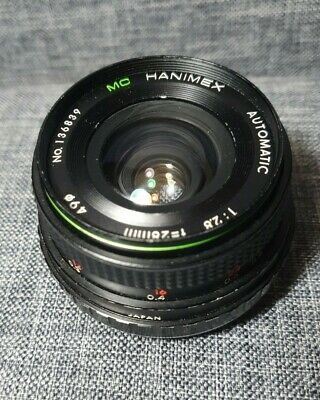 Vintage Hanimex Lens MC Automatic 1:2.8 F=28mm No. 136839 - Excellent Condition • 14.99£