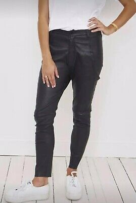 AU119 • Buy Scanlan & Theodore Black Leather Pants Size 10