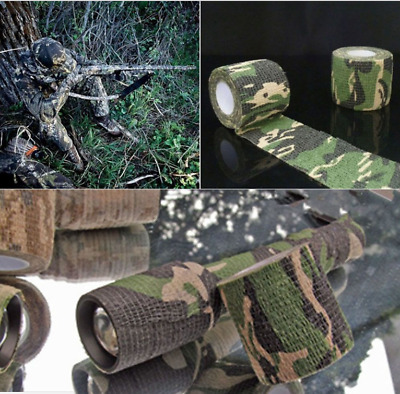 £1.34 • Buy 5CM*4.5M Camo Gun Hunting Waterproof Camping Camouflage Stealth Duct Tape Wrap.b