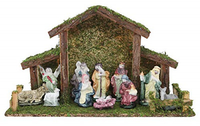 £26.35 • Buy Toyland® Traditional Christmas Nativity Scene - Stable With 12 Nativity Figures