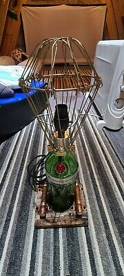 Tanqueray No.10 Gin Bottle Upcycled Handmade Steampunk Vintage Lamp, Man Cave • 20£