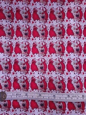 Pennywise Clown Fabric Poly Cotton 1m X 1.4m  • 11.32£