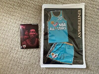 $59.99 • Buy Offical Enterbay Scottie Pippen Convention Exclusive All Star Jersey Set New