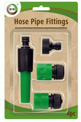 Hose Pipe Fittings Nozzle Connector Water Spray Gun Set Outdoor Garden Fittings • 3.49£