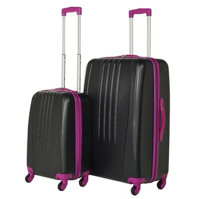 Swiss Case Luggage 4 Wheel Spinner Bold 2 Piece ABS Hard Shell Suitcase Set • 63.99£