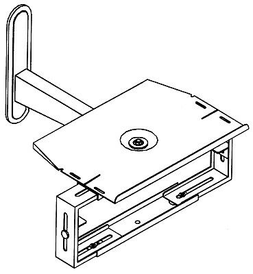 £49.95 • Buy NEW Combi Swivel Wall Mount Stand For Portable CRT TV (14  Max) Video DVD BR Sat
