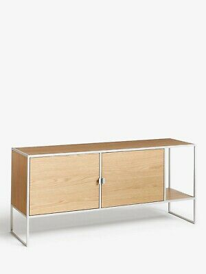 House By John Lewis Dice TV Stand Sideboard For TVs Up To 42 , Grey / Oak • 179£