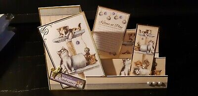 Pussy Cat Home Made Cards. • 2.95£