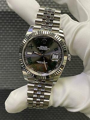 $ CDN14934.33 • Buy Rolex Datejust 41 Oyster Steel And White Gold Wimbledon Dial Mint Condition