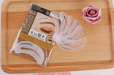 6 Eyebrow Stencil Kit Shaping Defining Arch Make Up Templates Grooming Tools UK • 1.49£